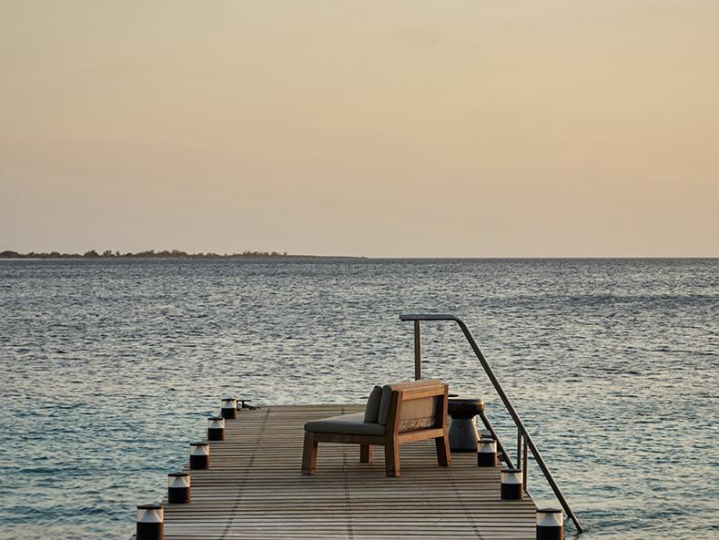 NIEK outdoor armchair at beach residence on Bonaire