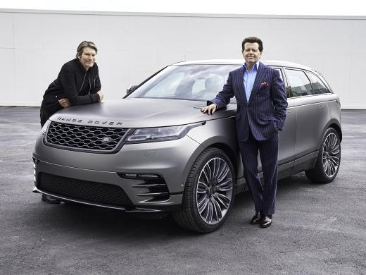 Piet Boon and Gerry McGovern with Range Rover Velar