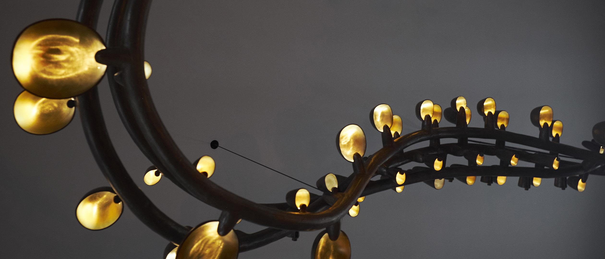 Bronze lighting sculpture or chandelier by Studio Molen, Frederik Molenschot