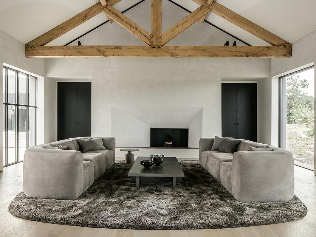 BO sofa, BELLE armchair, KEK coffee table and KLINK side table