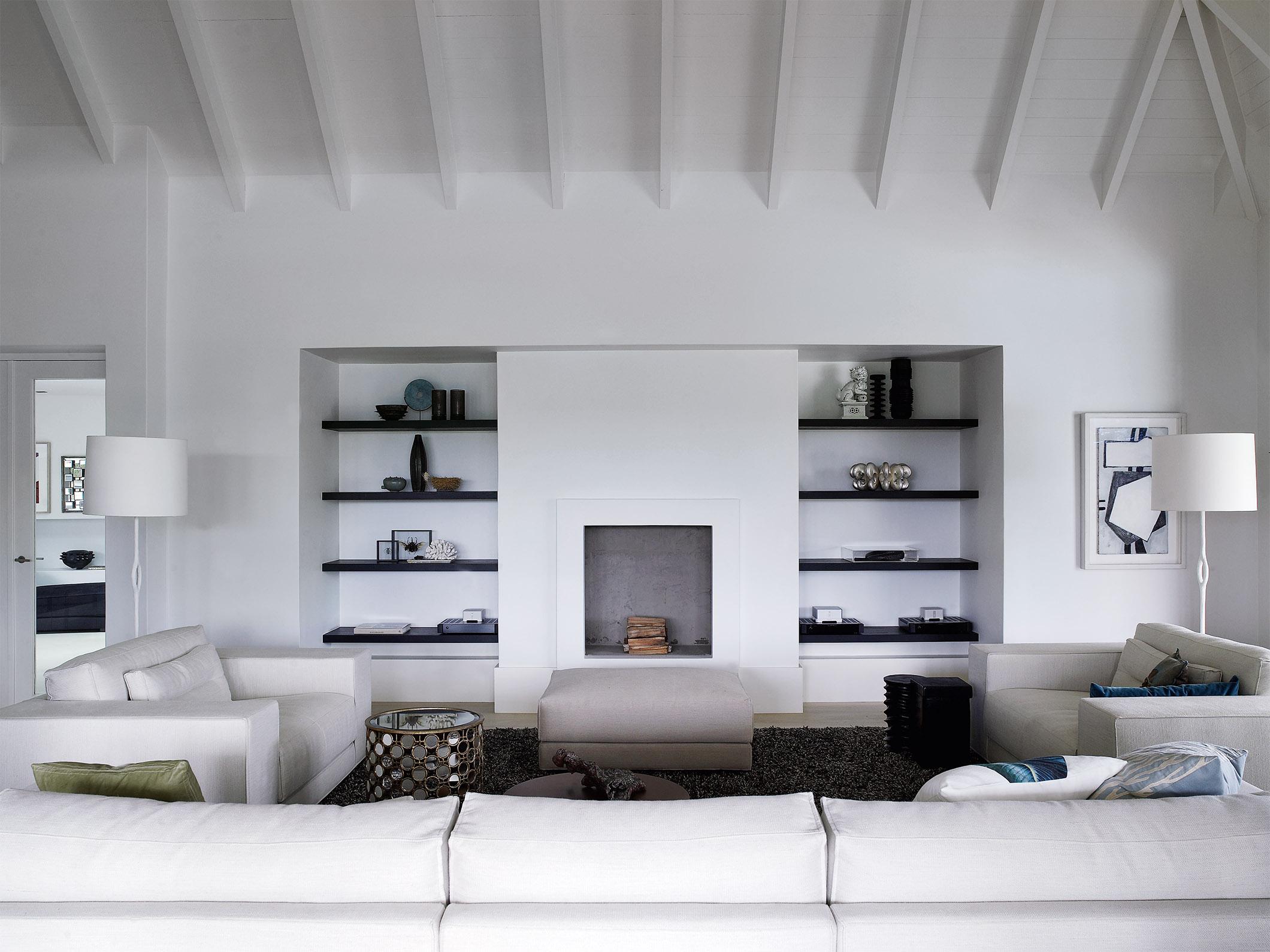 DIEK sofa, armchair and pouf at golf club villa