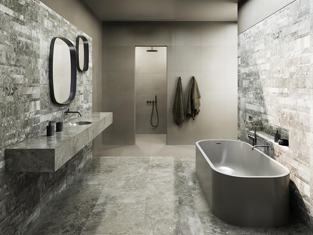 Piet Boon solid surface bathtub Salvatori render