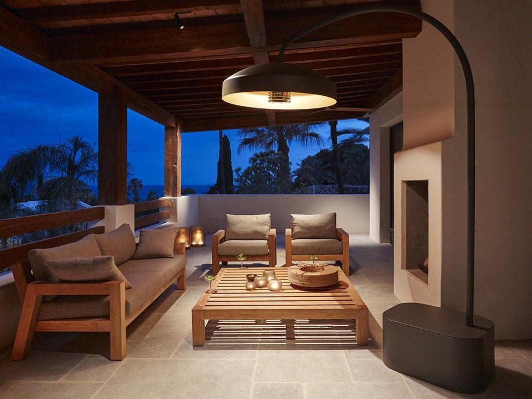 DISC outdoor patio heater by Heatsail