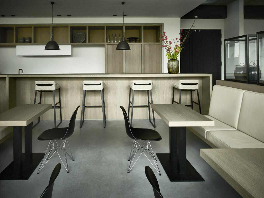 Riverdale headquarters with KEKKE bar stool