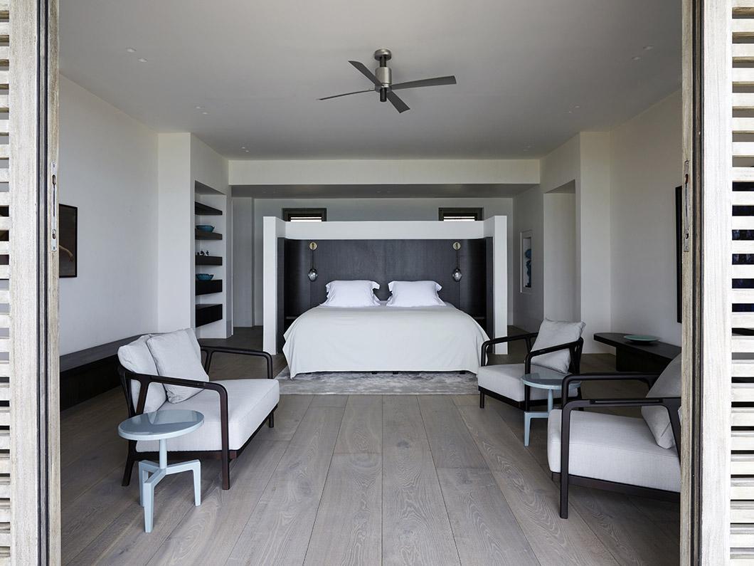 Slaapkamer in luxe strandvilla op Antigua