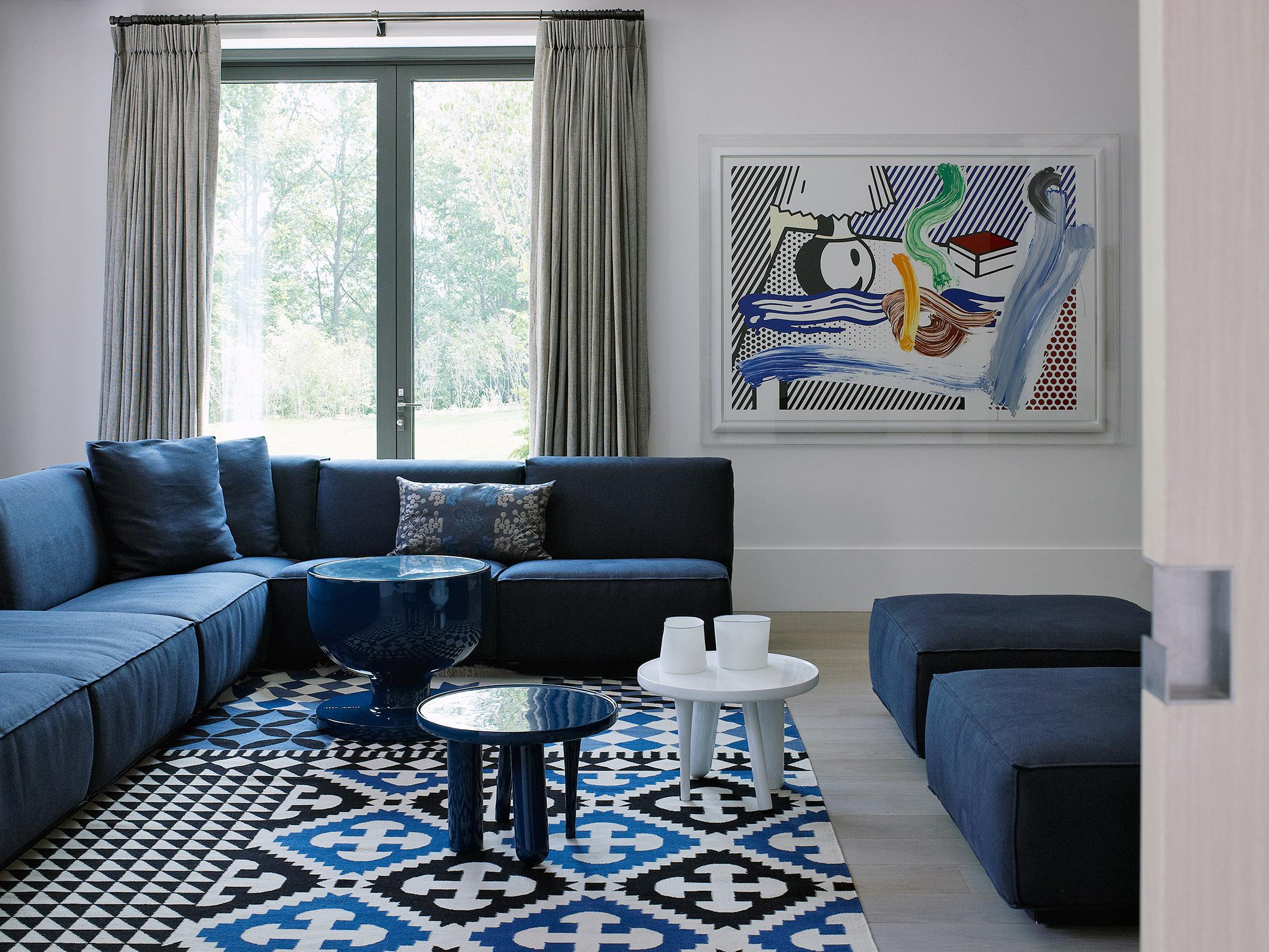 DOUTZEN sofa and pouf at Korean residential resort