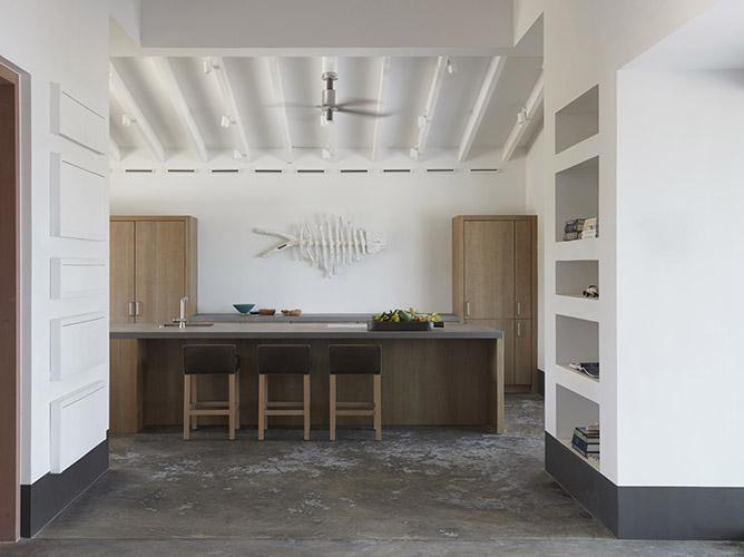 Kitchen with SAAR stool at beach villa on Bonaire