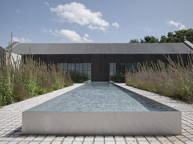 Exterior, pool or pond and Piet Oudolf garden at office in Brabant, Netherlands
