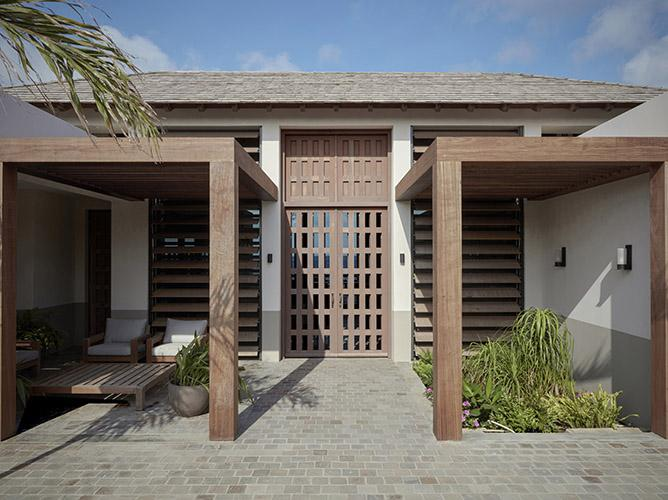 Entrance of beach residence on Bonaire