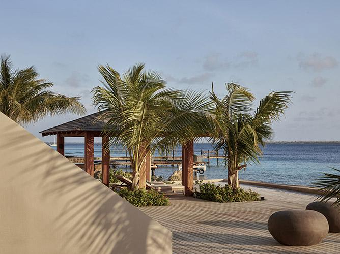 Gazebo with sea view at beach residence on Bonaire