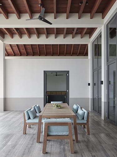 NIEK armchair and ANNE table at south coast villa