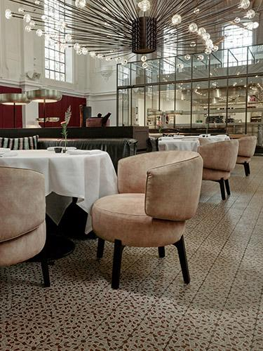 JANE dining chair at restaurant The Jane in Antwerp, Belgium