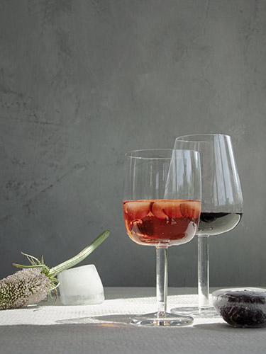 Interior styling with ice, flowers and glassware by Serax