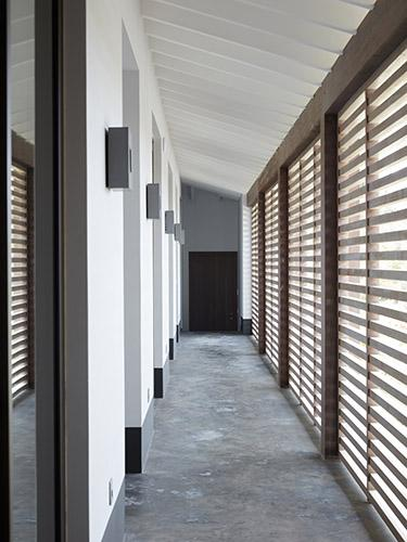 Corridor or gallery at beach villa on Bonaire