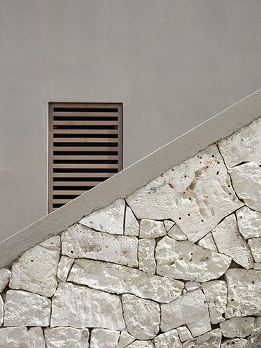 Outdoor stairs at beach residence on Bonaire