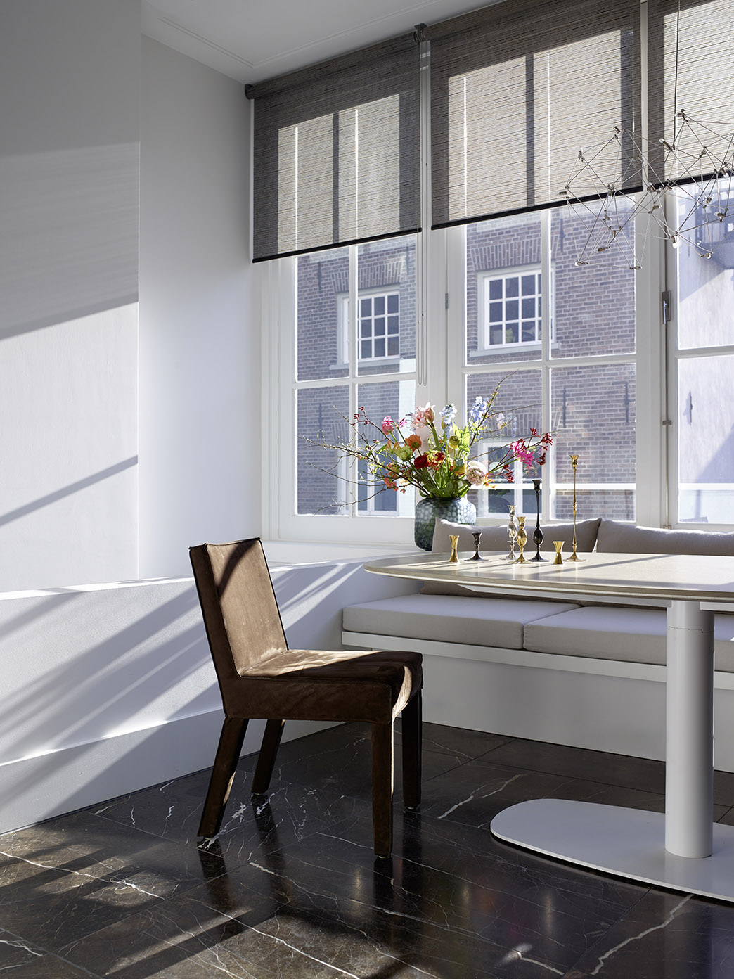 Canal House Amsterdam with KEKKE table and SAAR dining chair