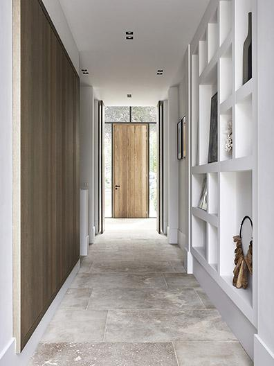 Hallway with home decoration and accessories