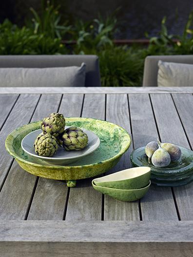 Styling in garden at urban residence in Amsterdam