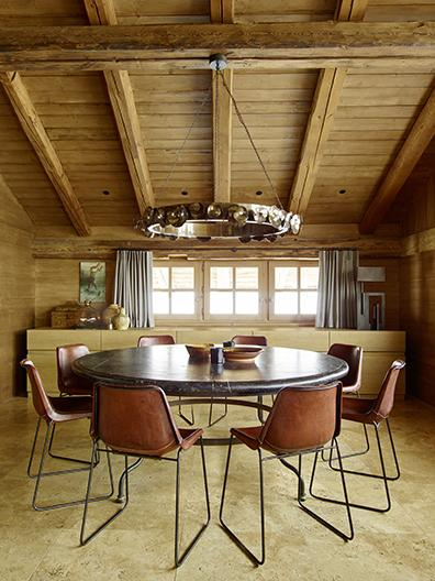 Styling at alpine residence in the French Alps