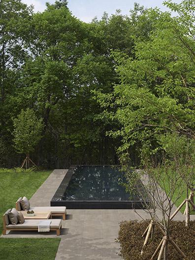 Smoke outdoor tile by Douglas & Jones