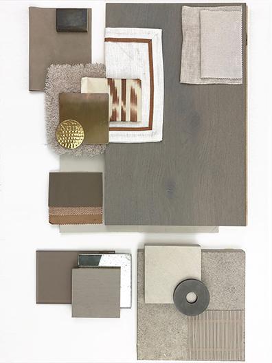Material board gray beige terra