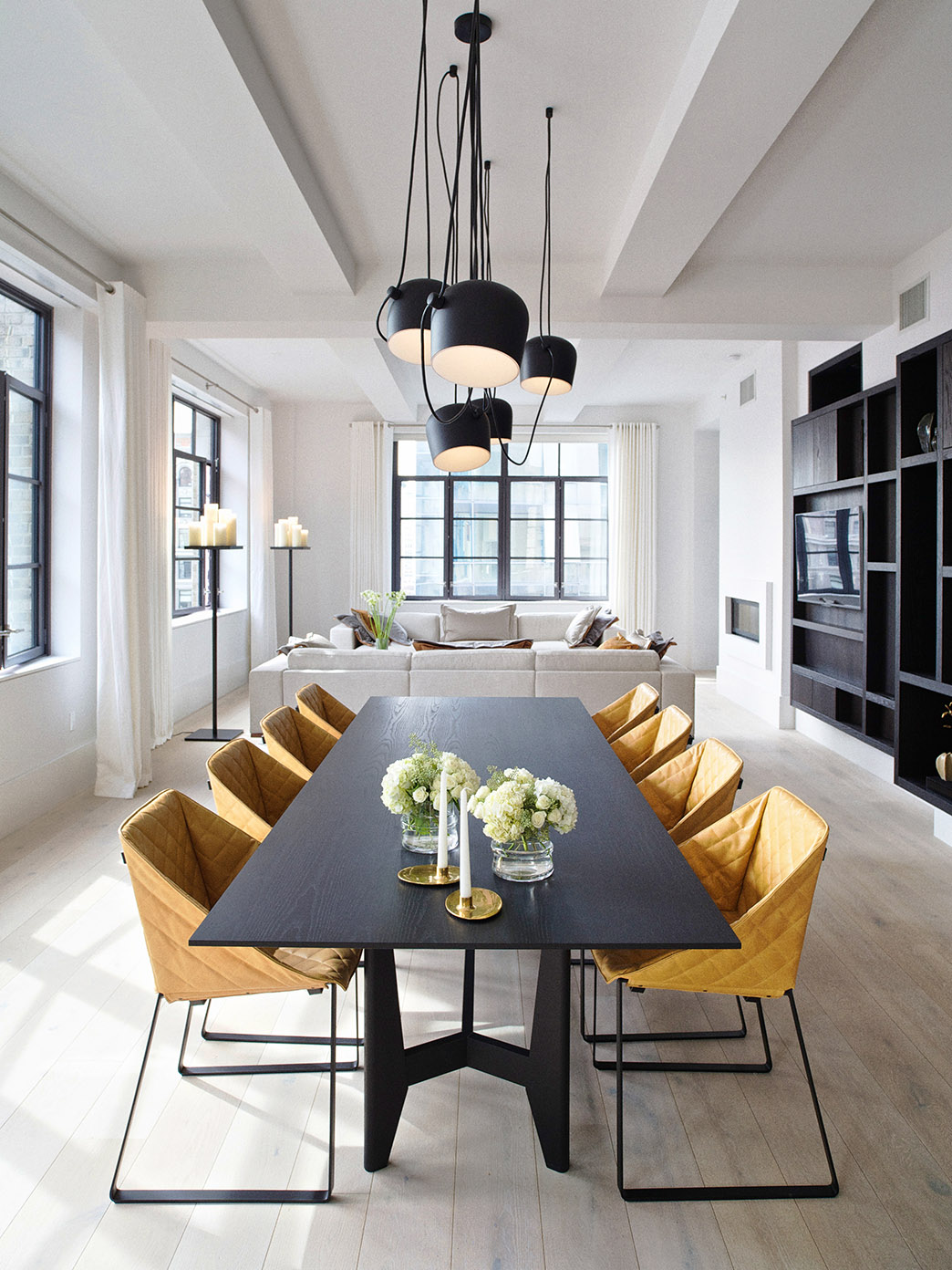Luxury Condominiums Huys in New York City with YKE table, KEKKE dining chair and DON sofa