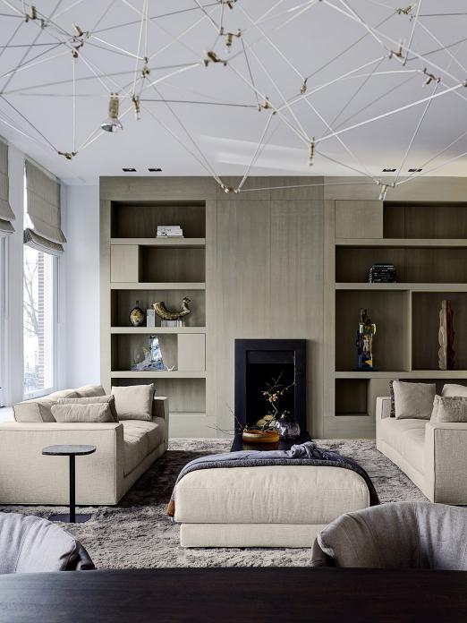 Canal House Amsterdam with DIEKE sofa and pouf and KEK side table