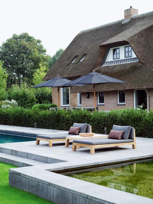 Dutch Farm House with GIJS daybed and ANNET coffee table