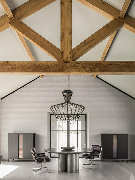 OLLE dining table and wooden floor by Solidfloor at office in Brabant, Netherlands