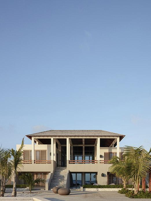 Exterior of beach residence on Bonaire
