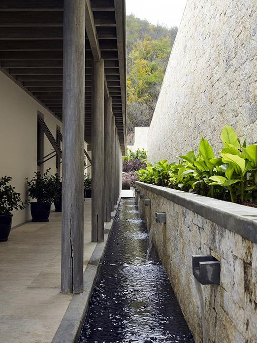 Stream outside luxury beach residence on Antigua