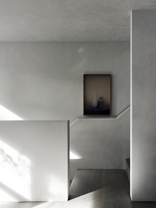 Casper Faassen art in staircase at residence in Amsterdam